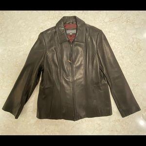 Liz Claiborne Women's Leather Jacket - Size XL